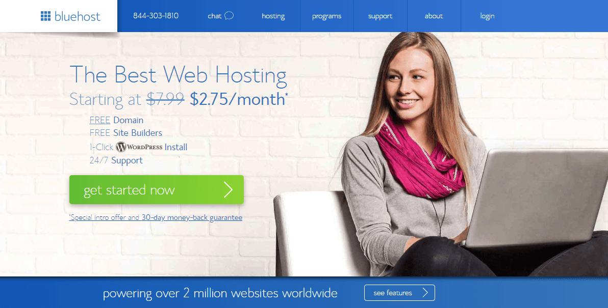 Bluehost discount coupon code free hosting review