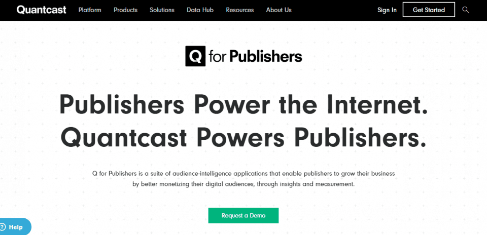 quantcast for publishers