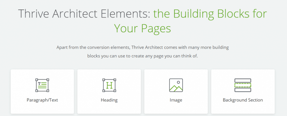 thrive architect building block