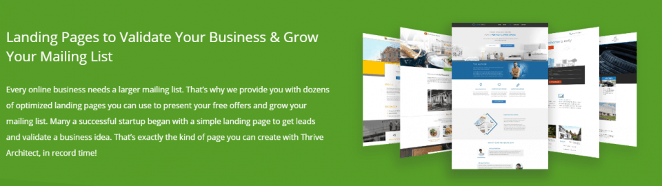thrive architect pages