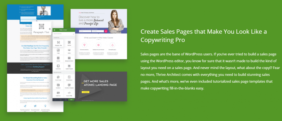 thrive themes landing pages