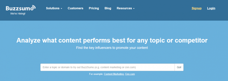 buzzsumo features