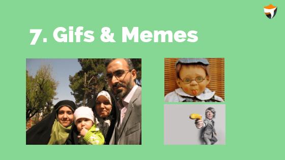 Gifs & Memes blogging niche ideas
