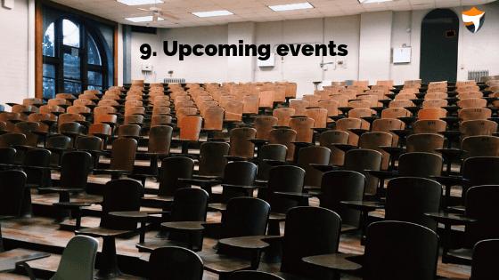 Upcoming events niche idea