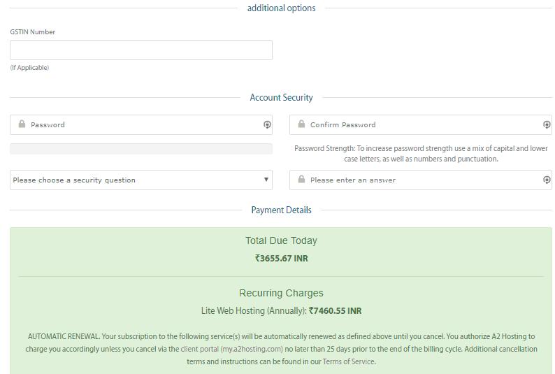 details A2 hosting