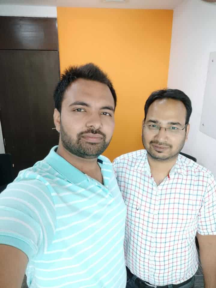 Amit Mishra blogger with Anil Agarwal of Bloggerspassion