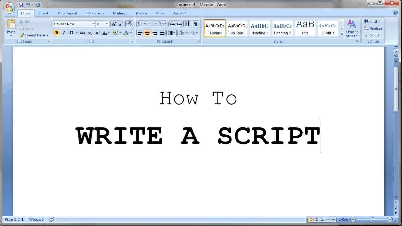 Scripting of YouTube video to get more subscribers