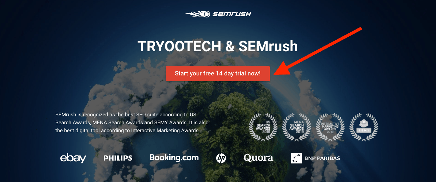 semrush free trial 14 days