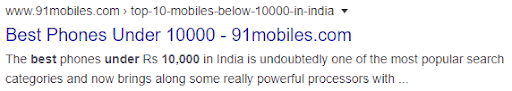 blog description of 91mobiles