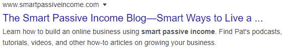 blog description of smartpassiveincome