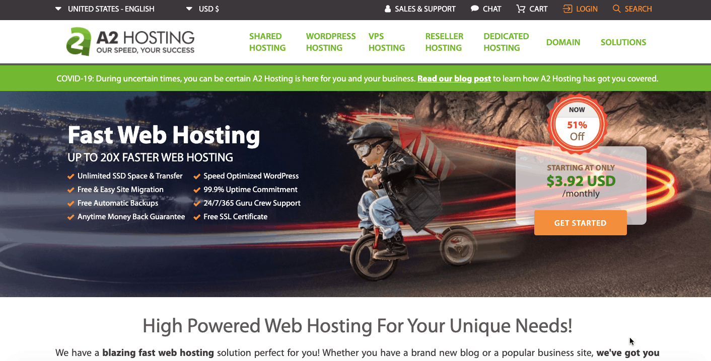 A2hosting best alternative to bluehost hosting