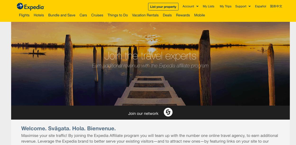 Expedia travel affiliate program