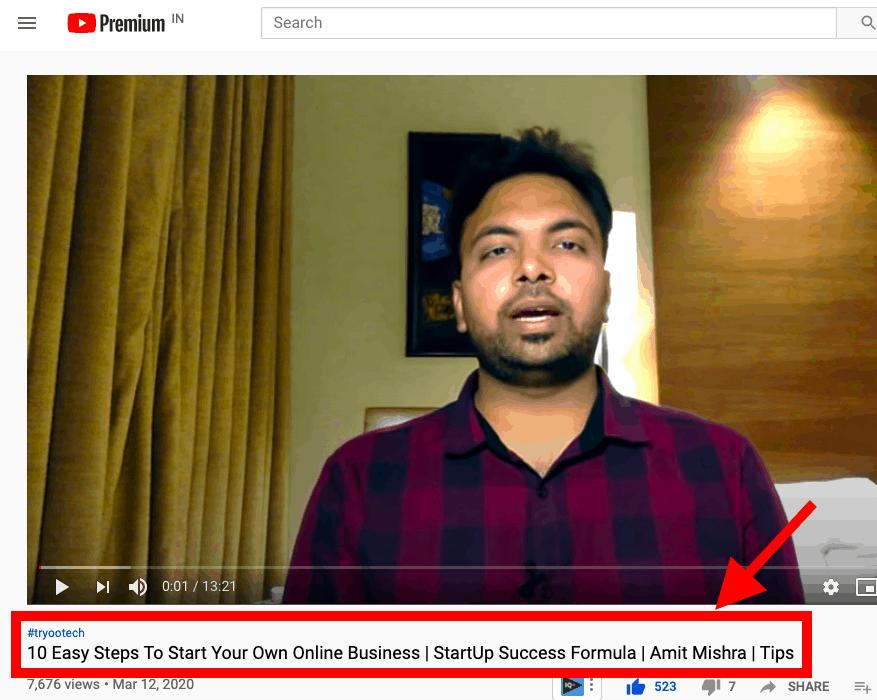 How to write youtube video title youtube seo