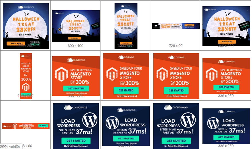 affiliate banner of cloudways hosting