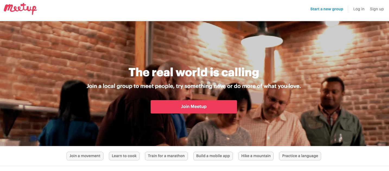 meetup social network