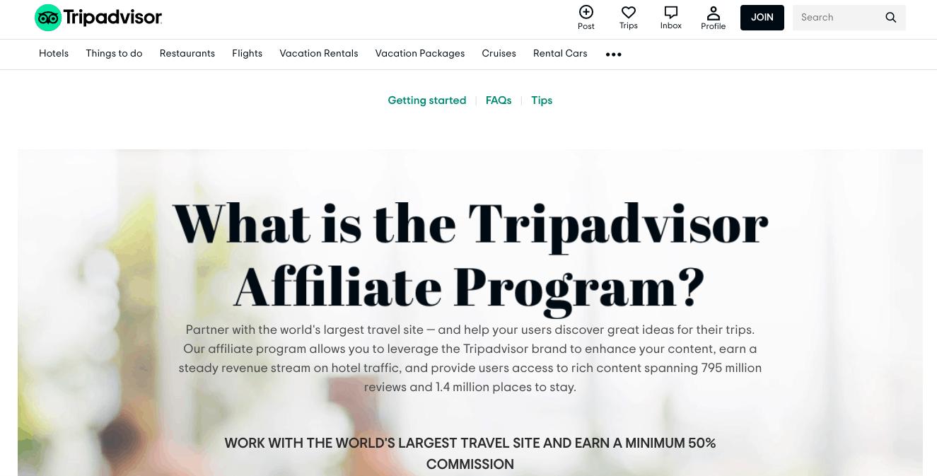 tripadvisor travel affiliate program