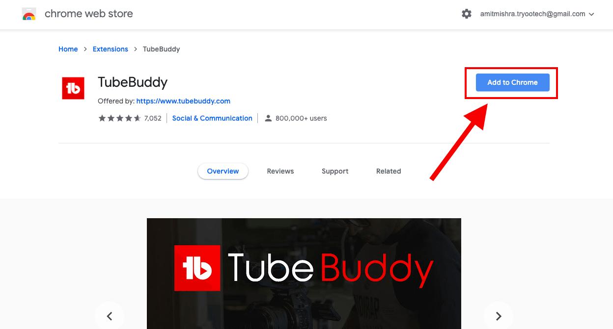 tubebuddy chrome extension