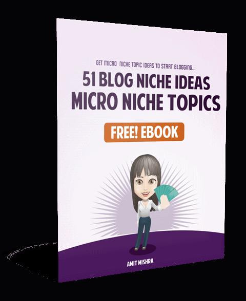 free blog niche list ebook