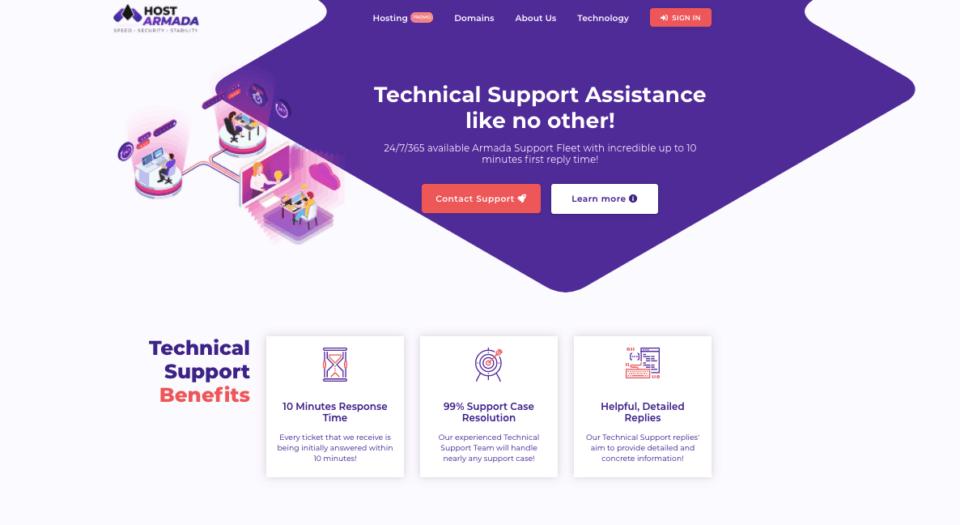 hostarmada customercare support